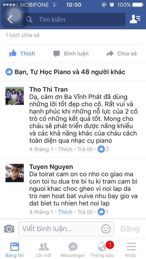 Lời cảm ơn của ba Vĩnh pHát trên Facebook
