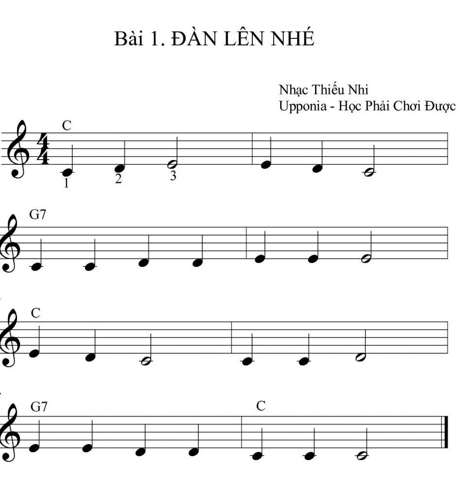 Bài học 3 nốt nhạc dành cho người mới học đàn organ