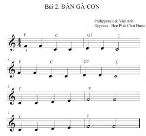 Bài học 3 nốt nhạc dành cho người bắt đầu học organ_Upponia