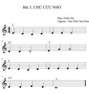 Bài học 5 nốt nhạc dành cho người mới học đàn organ